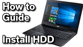 Hard Drive Install - Acer Aspire E15 - $550 Windows Laptop
