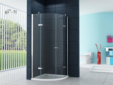 Bathroom Designing ideas. Shower Cubicle Installation - Curved corner type Sliding door design.