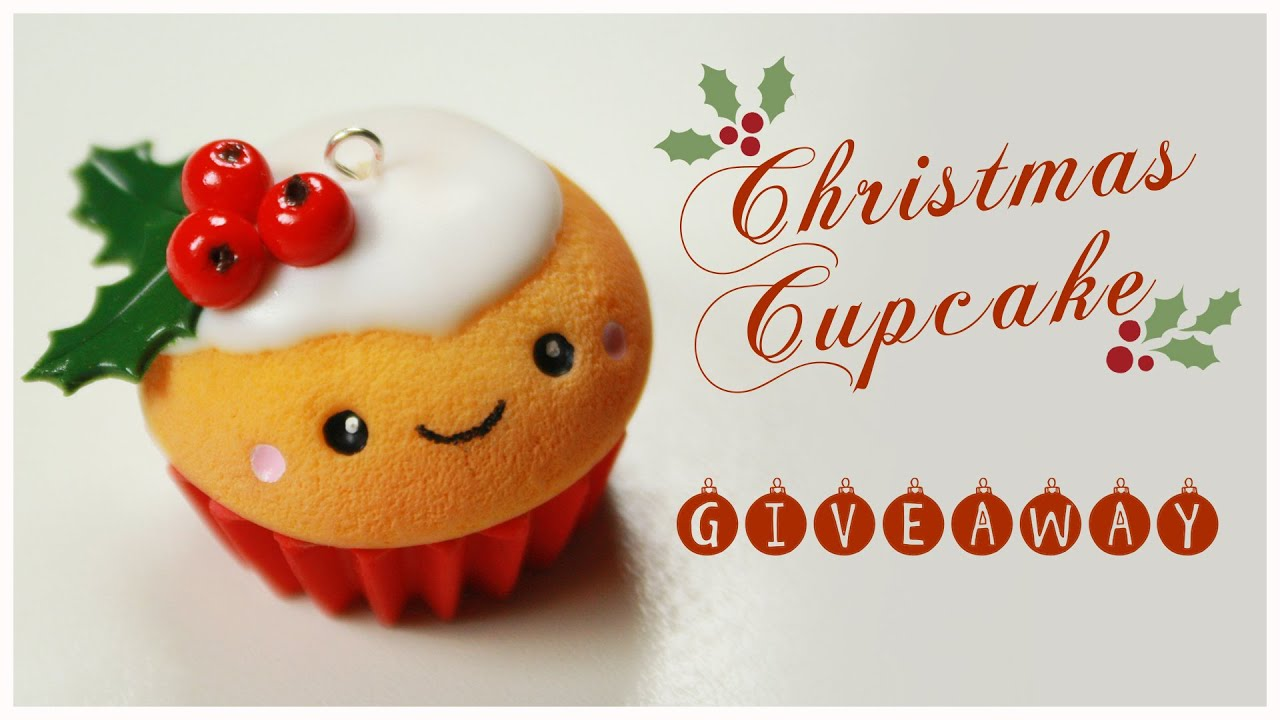 kawaii CHRISTMAS Cupcake TUTORIAL - HUGE Holiday Giveaway (CLOSED ...