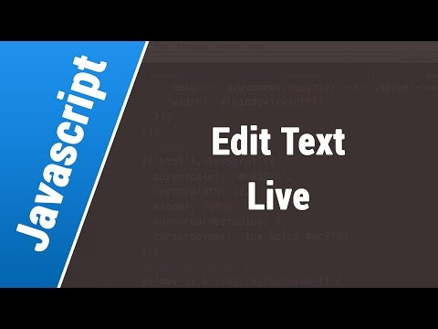 Javascript Arabic Tutorials - Edit Text Live On Input