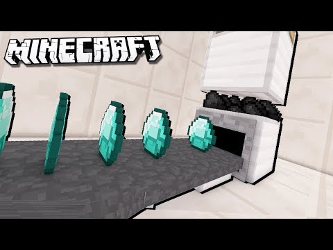 Easy DIAMOND PRESS in Minecraft! (Coal to Diamonds)