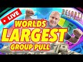 🔴 LIVE WORLD'S LARGEST SLOT GROUP PULL EVER!