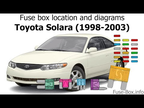 Fuse Box Location And Diagrams: Toyota Solara (1998-2003)