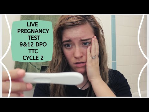LIVE PREGNANCY TEST || 9&12 DPO ||TTC BABY#2 || YOUNG MOM