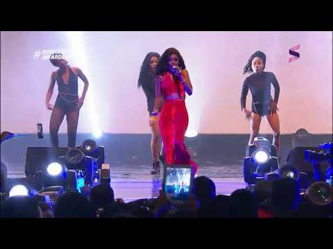 Victoria Kimani and Vanessa Mdee Performing At The 2016 Soundcity MVP Awards Festival