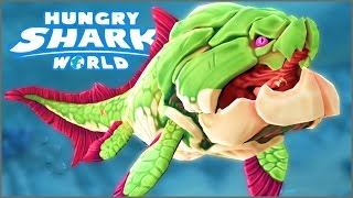 BIG MOMMA DUNKLEOSTEUS - Hungry Shark World - NEW Biggest Shark In Hungry Shark World!