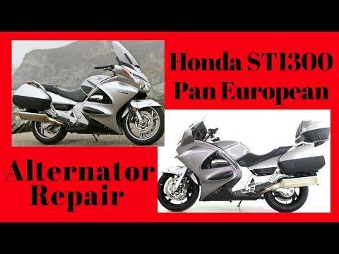 Демонтаж генератора Хонда.Honda ST1300 Pan European Alternator Repair.