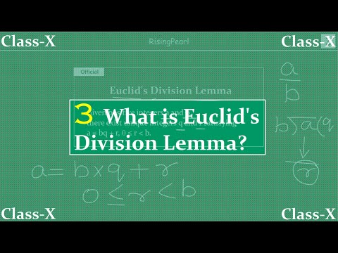 Real numbers - What is Euclid's division lemma?