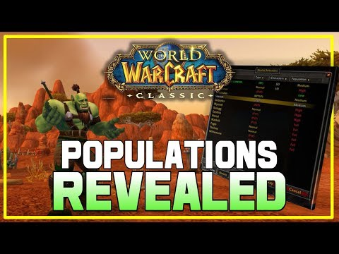 WoW: Classic Realm POPULATIONS Revealed! Kind Of.. Check Your Realm!