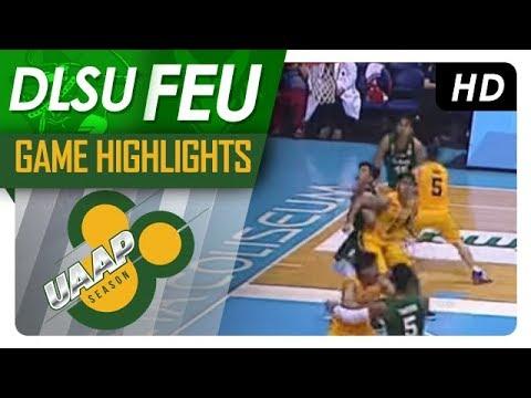 UAAP 80 MEN'S BASKETBALL ROUND 1: DLSU vs FEU Game Highlights - October 11, 2017