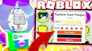 RAINBOW GIANT PENGUIN From MYSTERY RAINBOW EGG In Pet Simulator! (Roblox)
