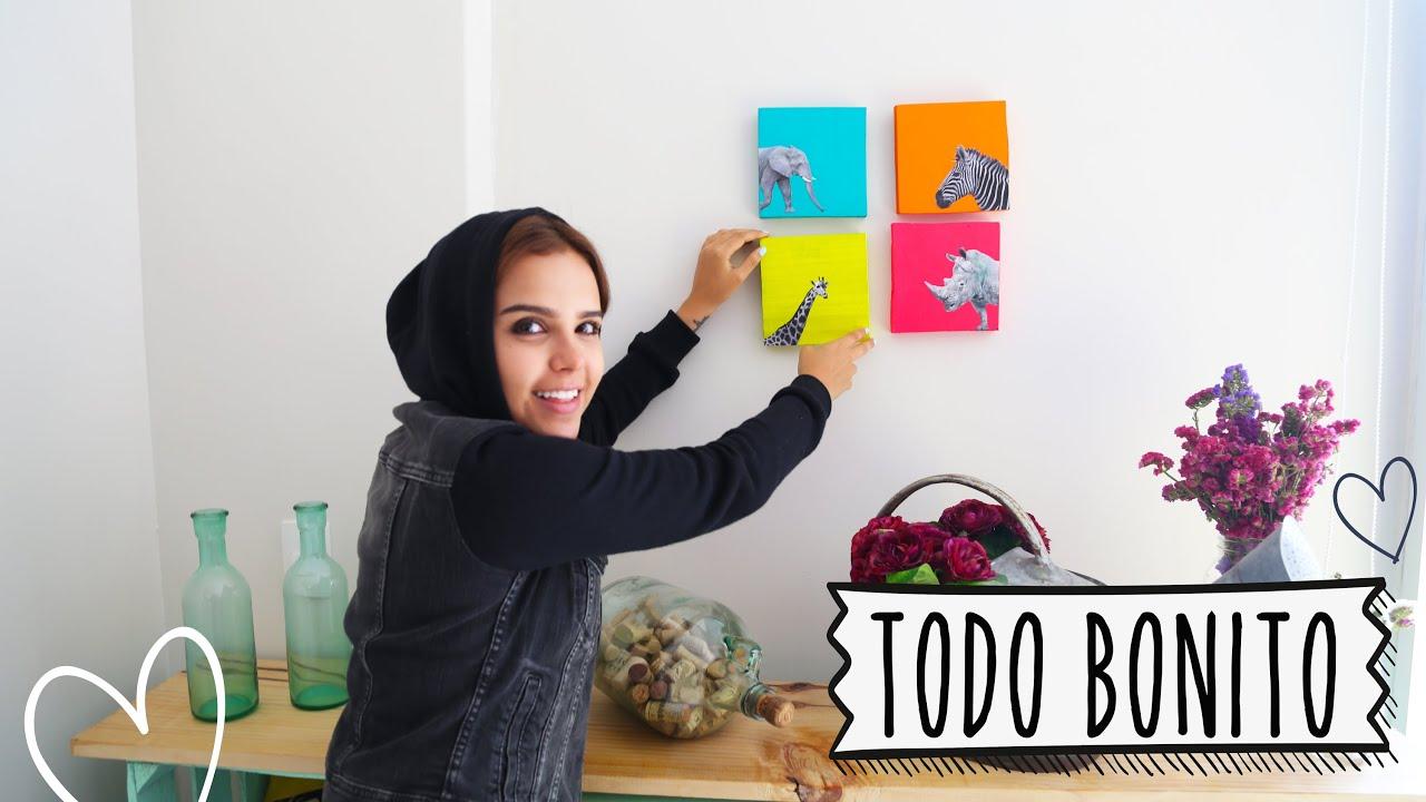 Pon bonita tu pared yuya youtube for Ideas decorar paredes