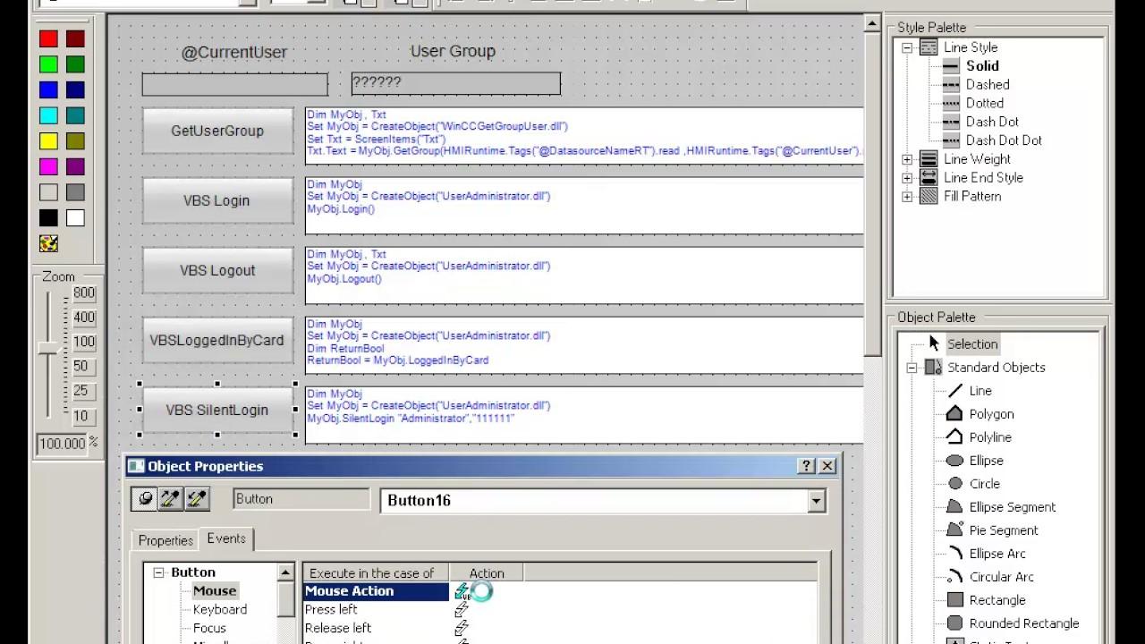 Library (VB Net / C#) COM --> VBScript WinCC - Entries