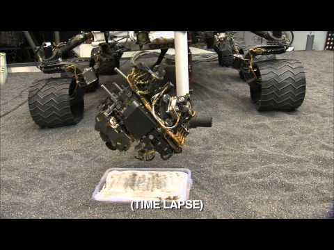 Curiosity Rover Sampling System Scoop Test