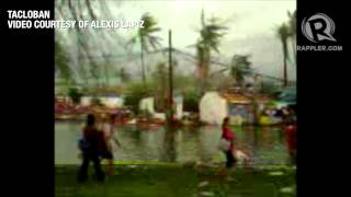 Strong winds, floods, and destruction in Tacloban during Yolanda