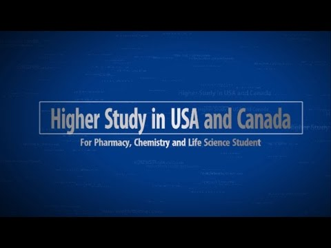 Masters and PhD Study in USA or Canada For Pharmacy, Chemistry and Life Science Students