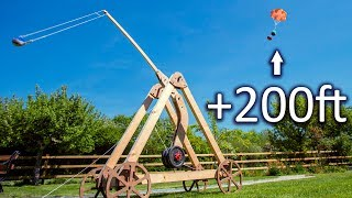 Vertical Trebuchet Launch