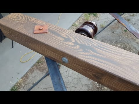 Hard Coating Foam Props With Fiberglass & Epoxy | Faux Wood Grain Painting | Prop Making Techniques