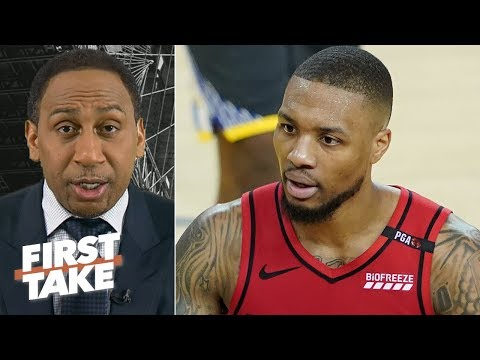 Damian Lillard tried to 'pull a Steph Curry,' Warriors will win in 5 games – Stephen A. | First Take