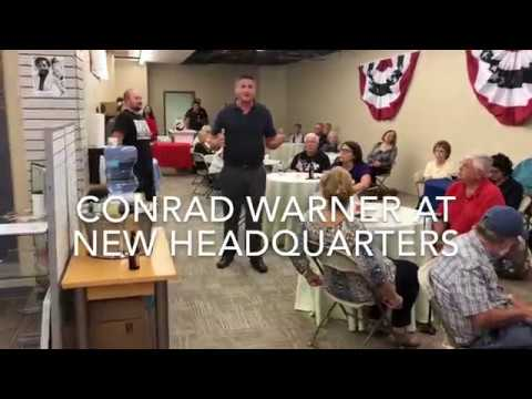 Conrad Warner at Clarion County Democrat Headquarters