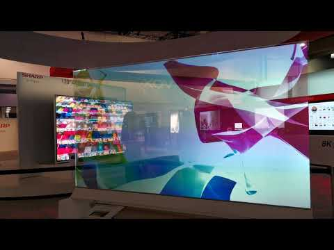 SHARP See-Through displays at CES 2020
