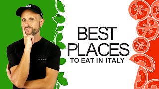 Learn Italian Culture: Best places to eat in Italy - where to eat in Italy
