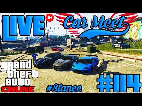 LIVESTREAM DE GTAONLINE | STANCE CAR MEET E RUMO A NÍVEL 1000| #114 #GTAONLINE #2K