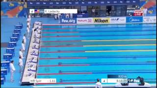 Katie Ledecky NEW World Record 1500m Freestyle World Championships ЧМ по плаванию 2015