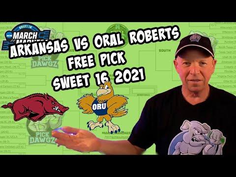 Arkansas vs Oral Roberts 3/27/21 Free College Basketball Pick and Prediction NCAA Tournament