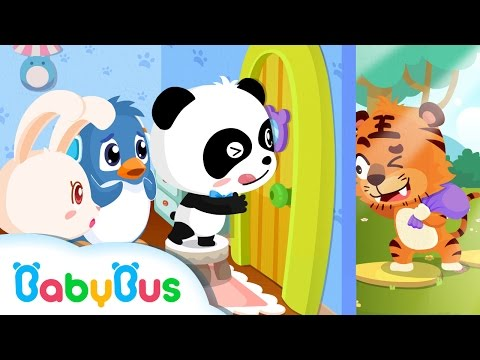 ❤ Don't Open The Door For Strangers | Animation For Babies | BabyBus | Baby Panda