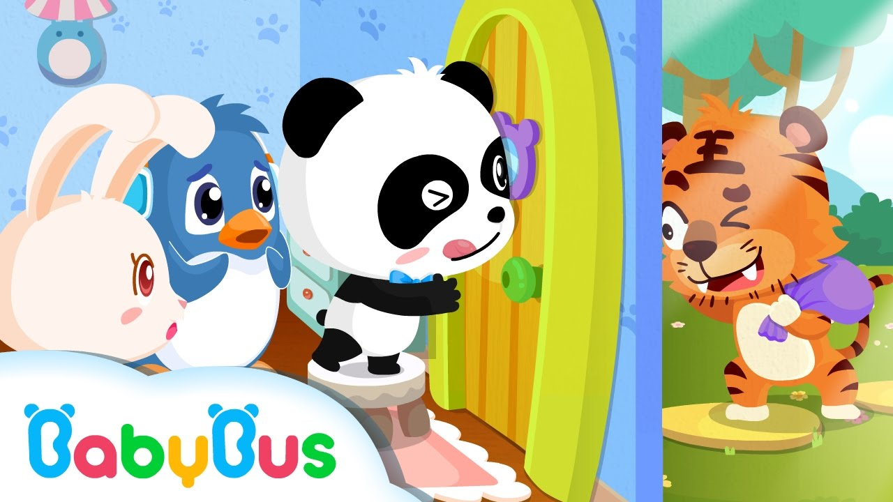 Don\u0027t Open The Door For Strangers | Animation For Babies | BabyBus | Baby Panda  sc 1 st  YouTube & ❤ Don\u0027t Open The Door For Strangers | Animation For Babies ...