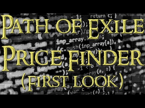Path of Exile Price Finder Software➥First Look & Talk With Creator
