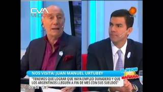 Canal 12 - El Show de la Mañana - Juan Manuel Urtubey 180516 0950