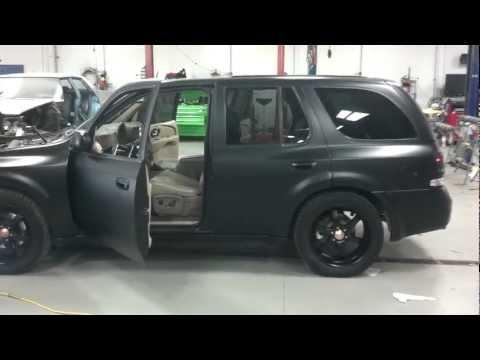 Buick Rainier Matte Black Paint Job Shady Walk Around/idle,