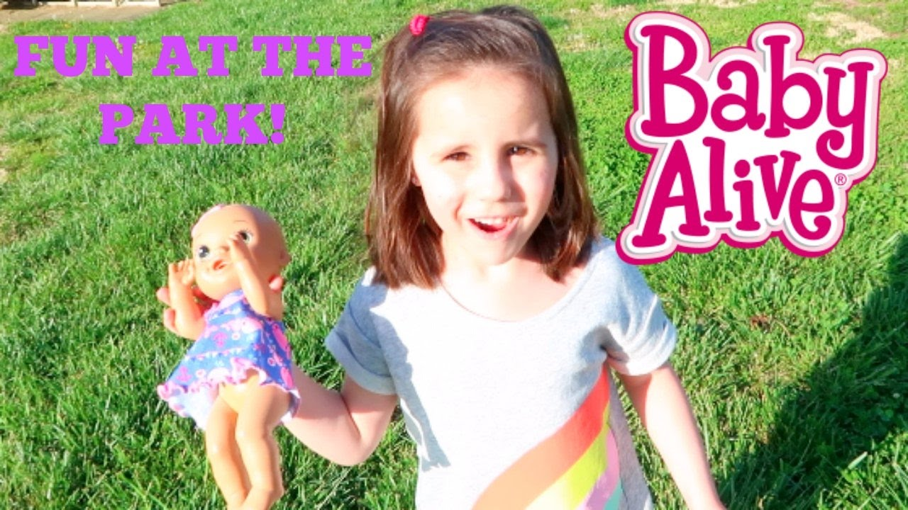 Baby Alive Plays At The Park Theplussideofthings Youtube