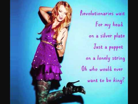 Taylor Swift - Viva La Vida Lyrics