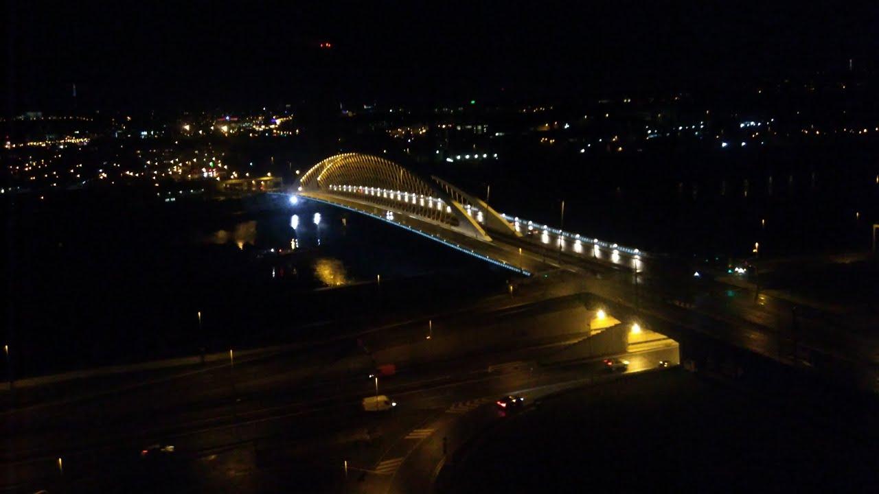 Drone Dobby Zerotech night flight - Prague river view