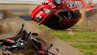 Motorsport and Motor Racing Crashes Compilation / Подборка аварий и курьезов в мото и автоспорте.