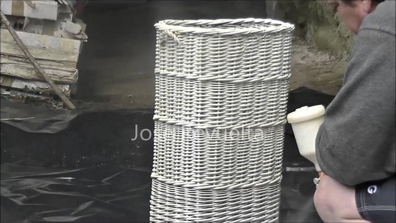 Pintado y reparaci n de cesto ropa sucia youtube - Reciclar cestas de mimbre ...
