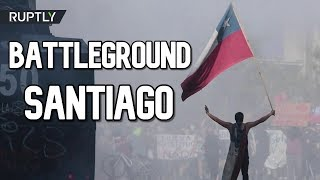 Protests In Santiago Turn Chile's Capital Into Battleground
