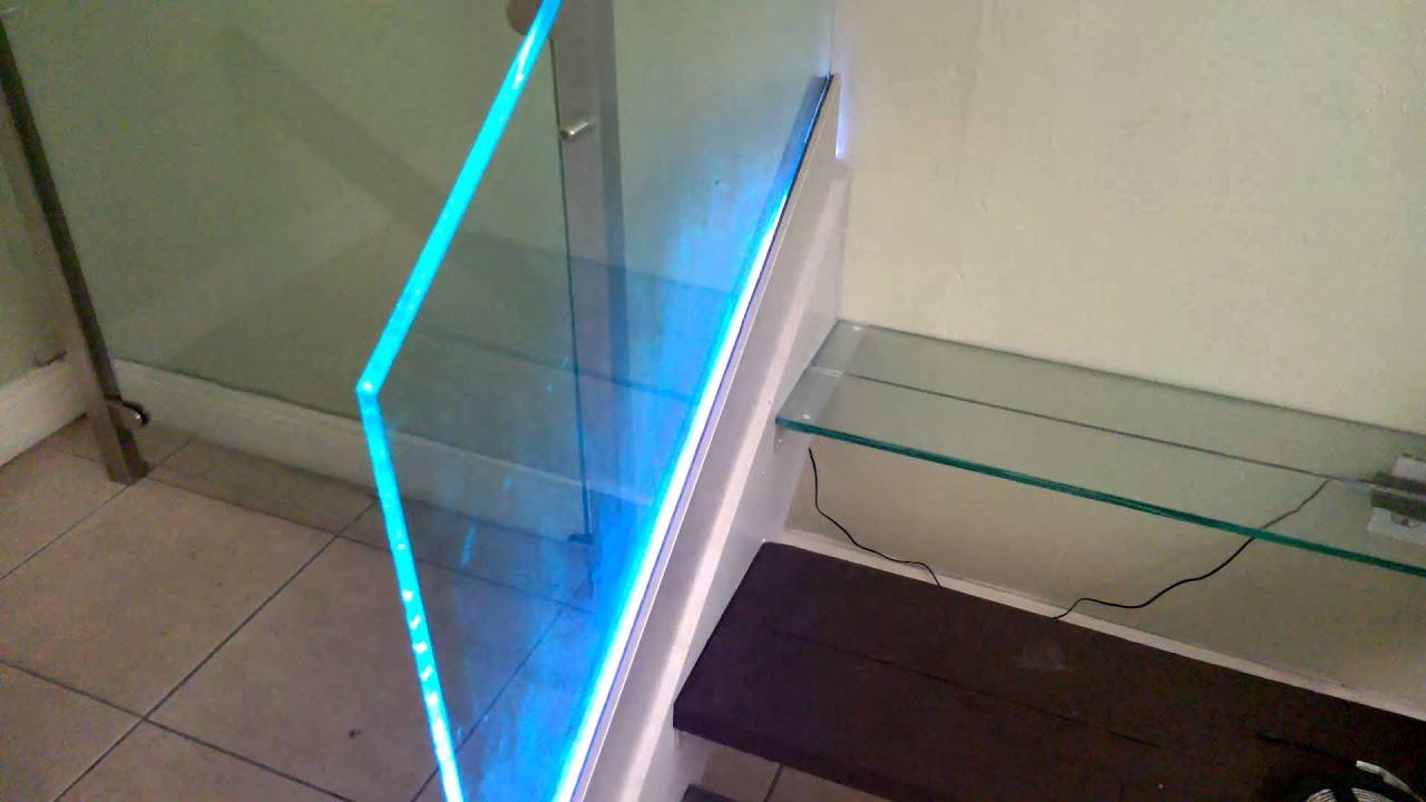 Glass and Led railing