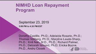 2019 Loan Repayment Technical Webinar