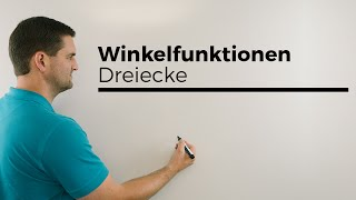 Winkelfunktionen, Dreiecke, Trigonometrie definiert, Mathehilfe online | Mathe by Daniel Jung