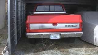 Old Chevy Truck - first start 2014