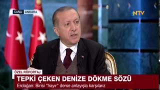 Recep Tayyip Erdoğan: 'Sen ne gerizekalısın ya.'