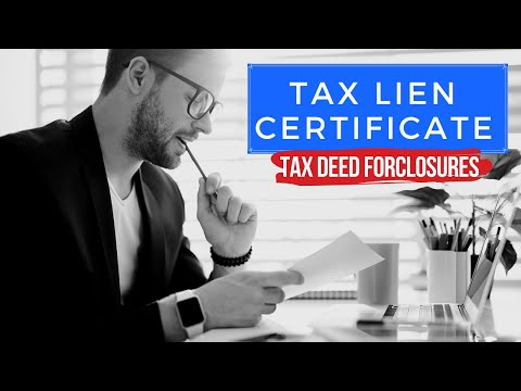"The Ultimate ""Tax Lien Certificate"" Tutorial Training - Tax Deed Foreclosures"