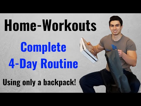 Complete 4-Day Home-Workout Routine | Day 1 Filmed