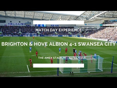 BRIGHTON & HOVE ALBION 4-1 SWANSEA CITY MATCH DAY EXPERIENCE - BRILLIANT PREMIER LEAGUE GAME!