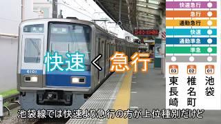 """迷列車で行こう 西武鉄道編 ~新宿線の二つの""""快速""""~"""