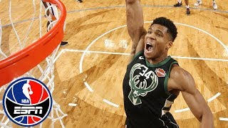 Giannis Antetokounmpo puts on a dunk show in Bucks' loss vs. Suns | NBA Highlights
